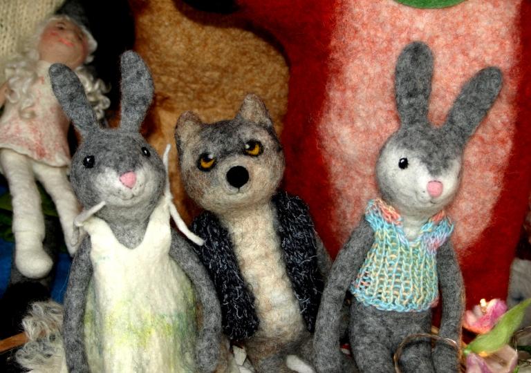Hasen-Wolf-Weihnachtsmarkt